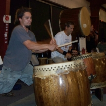Tampa Taiko night time performance 10-10