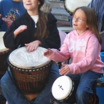 children drumming 10-09 A