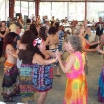 dancing during the merengue workshop