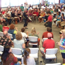 jana broder facilitated drum circle 10-11